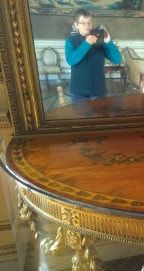 I&M table and mirror @ Chirk Castle